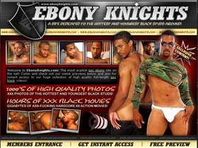 Ebony Knights - site dedicated to the Hottest and Youngest black studs arround!
