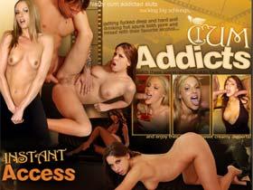 Welcome to Cum Addicts - nasty cum addicted sluts sucking big schlongs!