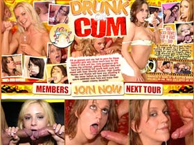 Welcome to Drunk On Cum - gorgeous sperm-addicted sluts fuck and enjoy sweet creamy desserts!