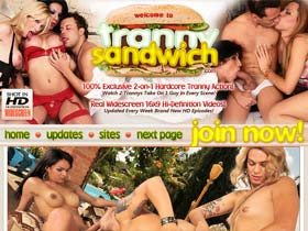 Tranny Sandwich - Shemale, Tranny & Transexual Hardcore Anal Gangbang Porn! Ladyboy Threesome Fucking Videos & Groupsex Movies!