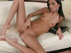 Brunette showing off her appealing feet