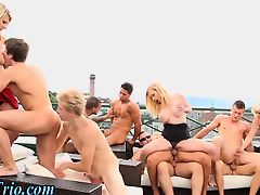 Bi curious orgy smoking with dirty sluts