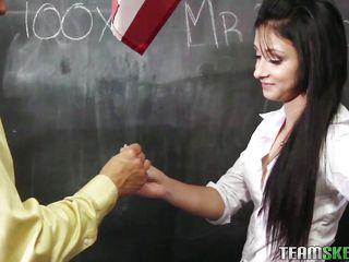 schoolgirl sucks off her english teacher