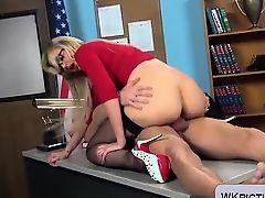 Teacher milf Gigi Allens gets bonked at school in nylons