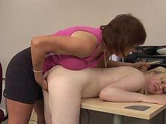 Lesbian mature daddy dominated schoolgirl