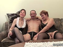German old Grand-dad and Grand-dad in privat Adolescent Threesome