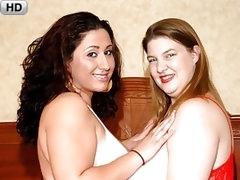 Chubby Lesbians Enjoy Sexy Times