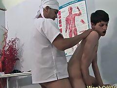 Perv doctor fucks amateur