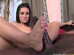 Cassidy Klein Pleases A Huge Swarthy Cock With Her Feet
