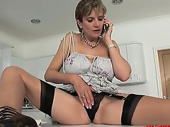Busty housewife deep pussy fuck