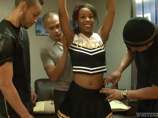 bitchy stacy stripped off for horny gang @ ebony cheerleader gang bang #27