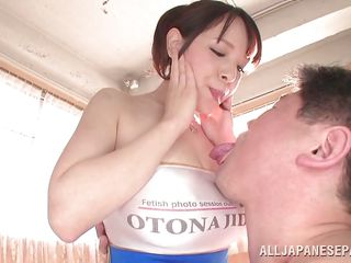 hot japanese race queen has perfect natural titties