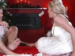 Blonde doll blows and jazzes big dick