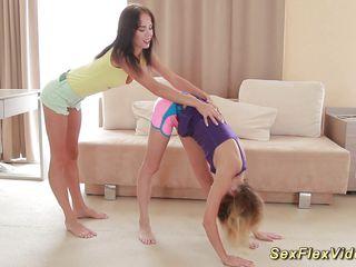 cute flexible girlfriends bare expand