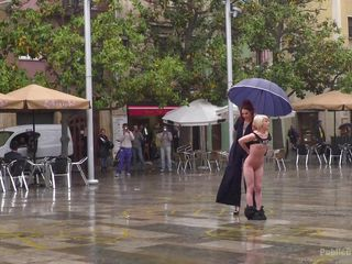 naked sex slave on the public square