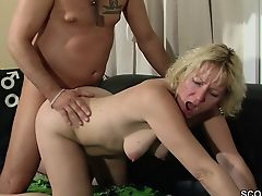 German MILF Charm Doctor to Fuck her When Habitat Alone