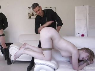 round a-hole girl gets trained to be a copulation slave