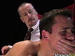 Gay mormon tugs elder
