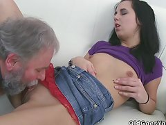 Play this video to see hot babe being fucked by two men