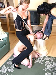 Irina comes home with a friend to play with her worthless slave