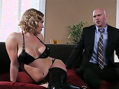 Krissy lynn seduce her man for some ass banging