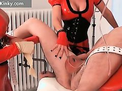 Two busty big boobed latex lustful milf