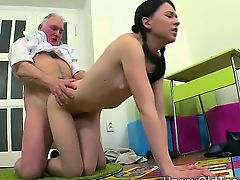Nasty darksome haired babe with sexy butt