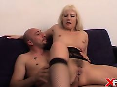 Asia Blondy in anal act of love and gapes fucked by Omar Galanti